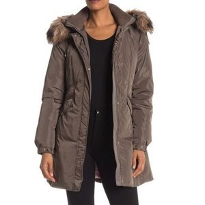Kate Spade New York Faux Fur Hooded Down Jacket